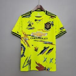 Camisa Manchester United Treino 20/21 s/n° - Verde