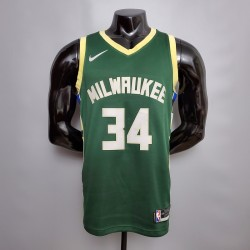 Camisa Bucks 2021 - 34 Antetokounmpo - Verde