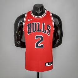 Camisa Chicago Bulls 2021 nº 2 BALL - Vermelho