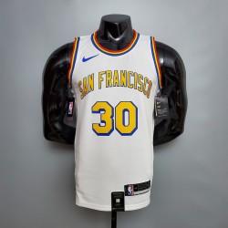 Camisa de Basquete Golden State Warriors 2021 - 30 Curry - Branco