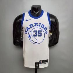 Camisa de Basquete Golden State Warriors Retrô- 35 Durant - Branco