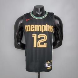 Camisa Memphis Grizzlies MORANT 12 - Preto
