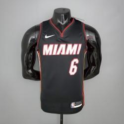 Camisa Miami Heat - 6 JAMES -  Preto
