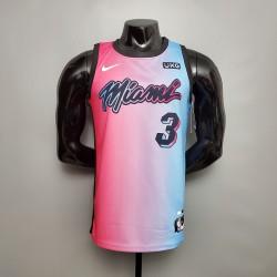 Camisa Miami Heat - 3 WADE - AZUL/ROSA
