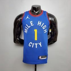 Camisa de Basquete Denver Nuggets 2021 - 1 PORTER JR. - Azul