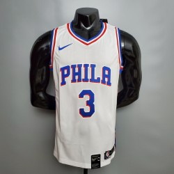 Camisa Philadelphia 76ers 2021 - 3 IVERSON - Branco