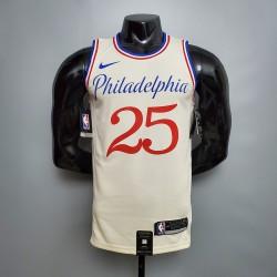 Camisa Philadelphia 76ers 2021 - 25 SIMMONS - Bege