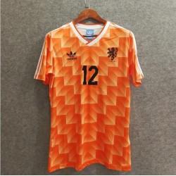 Camisa Holanda Retrô 1988 - nº 12 - VAN BASTEN