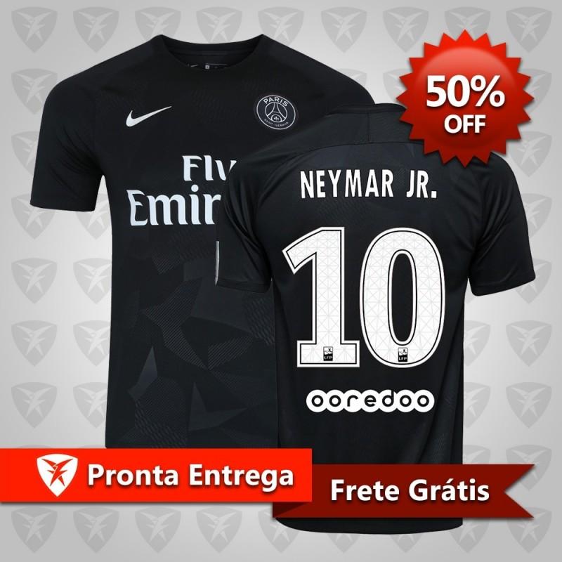 936302480b283 ... Camisa Paris Saint-Germain Third 2017 Neymar Jr n° 10